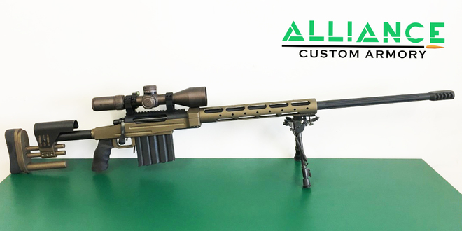 375 chey tac Long Range custom rifle