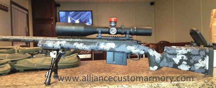 338 Lapua custom rifle